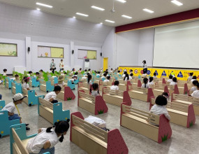 강당에서 집체교육